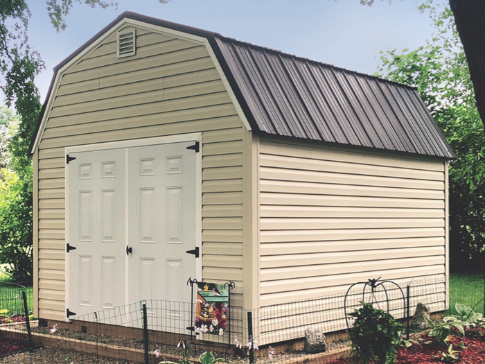 vinyl sided lofted barn