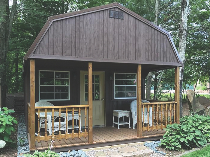 lofted cabin with smart panel siding